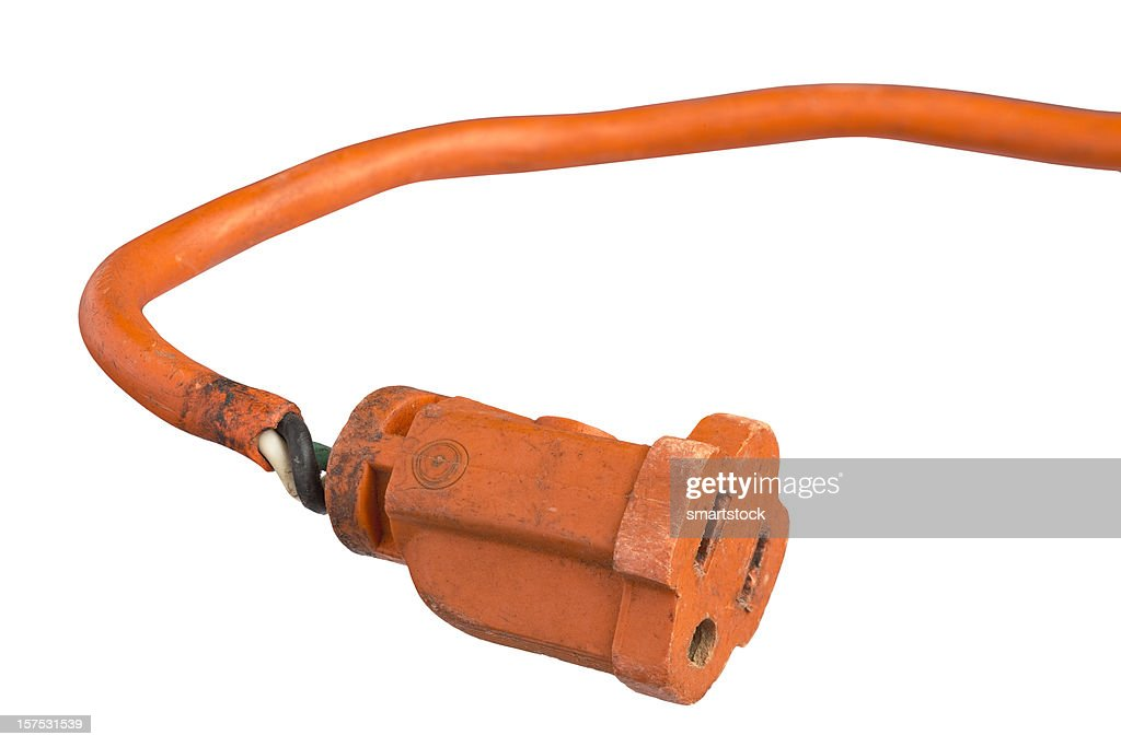 Damaged Power Cords : Damaged electric power cord stock photo getty images