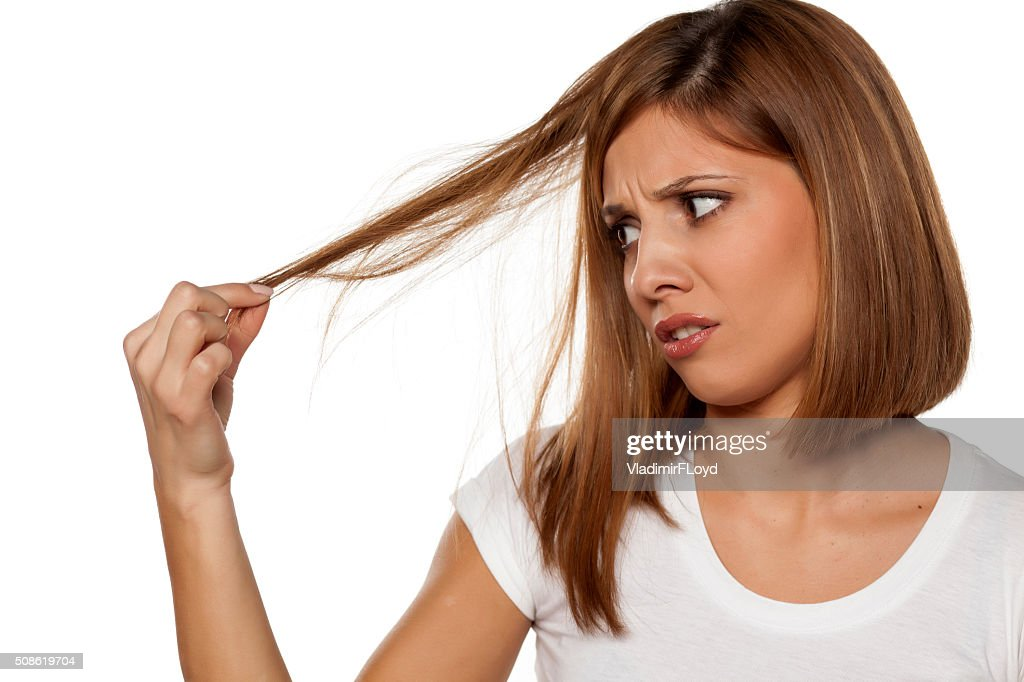 damaged hair : Stock Photo