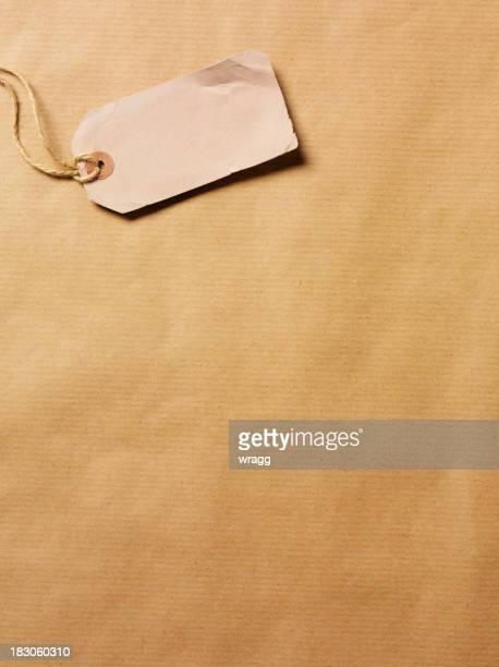 Endommagé Label sur papier kraft