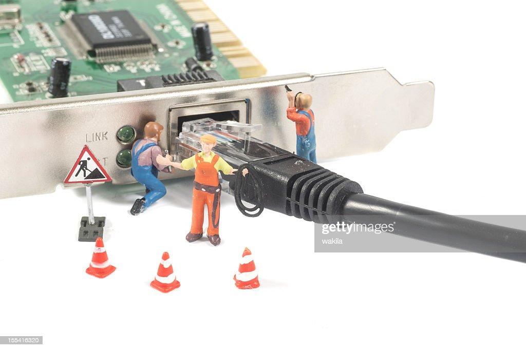 Astratto danneggiato Connessione di rete : Foto stock