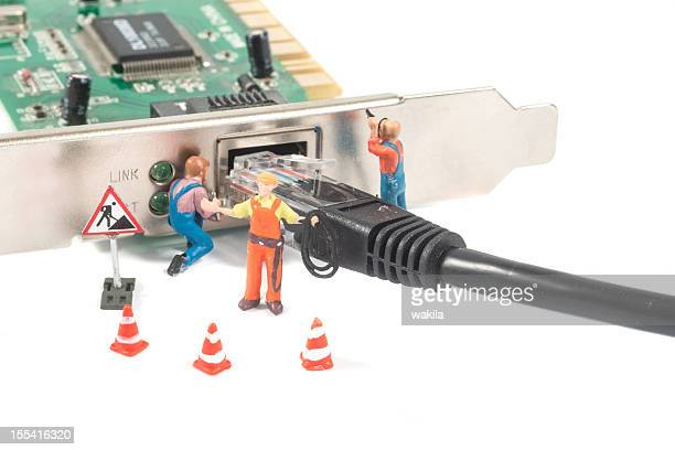 Astratto danneggiato Connessione di rete