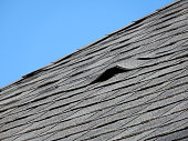 old roofing shingles