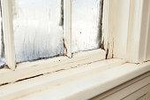 'Damaged, Rotting Window Inside Older Home'