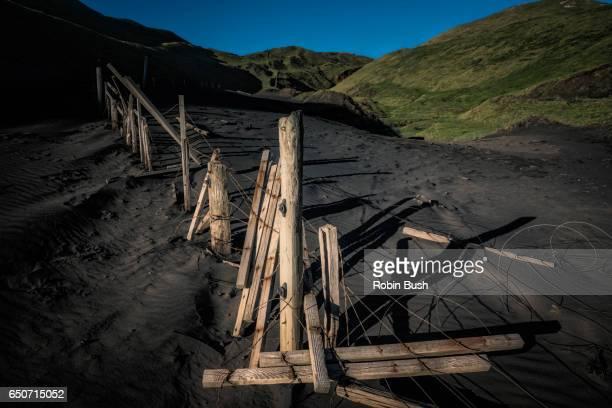 Damaged Stock Fence, Karioitahi Beach, New Zealand