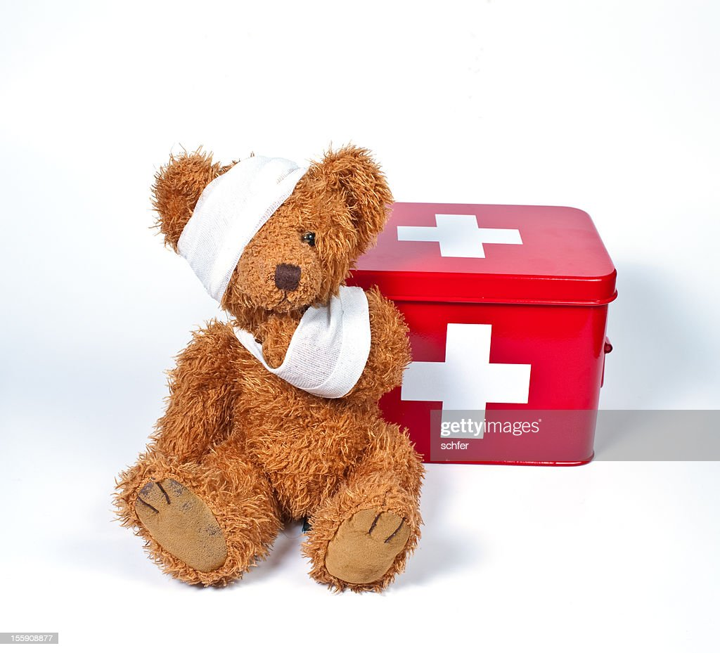 damaged teddybear stock photo getty images