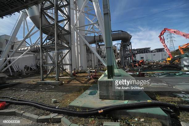 Damaged Tokyo Electric Power Co's Fukushima Daiichi Nuclear Power Plant on November 12 2011 in Okuma Fukushima Japan