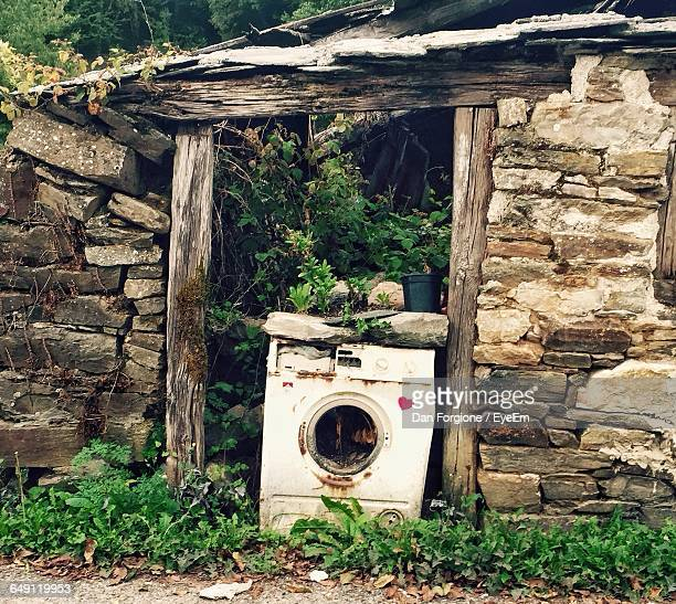 Damaged Washing Machine By Abandoned House