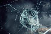 damaged windshield