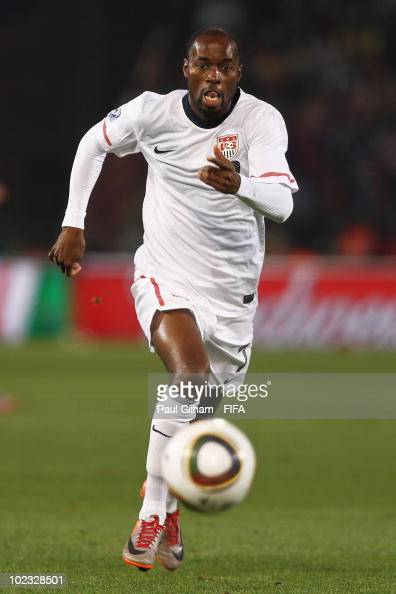DaMarcus Beasley of the United States in action during the 2010 FIFA World Cup South Africa Group C match between USA and Algeria at the Loftus...