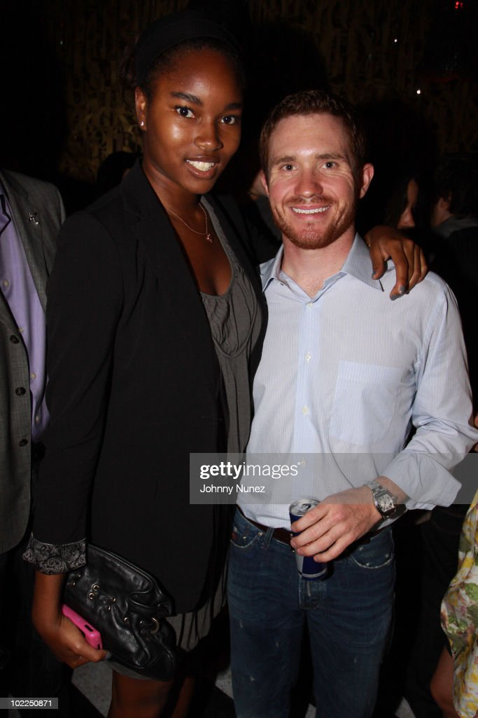 Damaris Lewis (L) and <a gi-track='captionPersonalityLinkClicked' href=/galleries/search?phrase=Brian+Vickers&family=editorial&specificpeople=171225 ng-click='$event.stopPropagation()'>Brian Vickers</a> attend the 2010 Red Bull Air Race World Championship after party at 1OAK on June 19, 2010 in New York City.