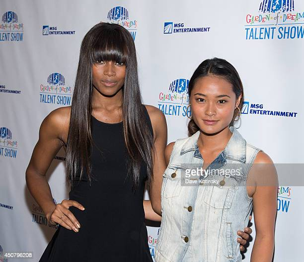 Damaris Lewis and Jarah Mariano attends 2014 'Garden of Dreams Hero' awards and talent show at Radio City Music Hall on June 17 2014 in New York City