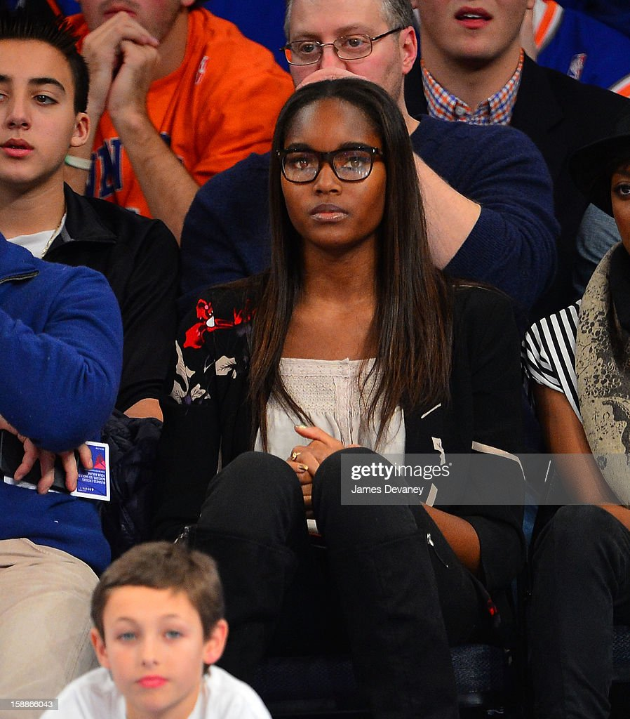 Damaris Lewis attends the Portland Trail Blazers vs New York Knicks game at Madison Square Garden on January 1, 2013 in New York City.
