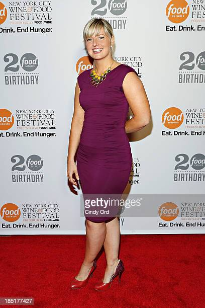 Damaris Phillips attends Food Networks 20th birthday celebration at Pier 92 on October 17 2013 in New York City