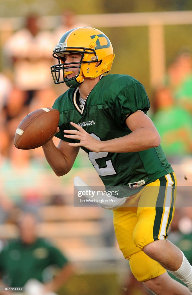 Damascus quarterback Connor Frazier during the game at Damascus High School on Friday September 24 2010 Damascus defeated Seneca Valley 2216 and...