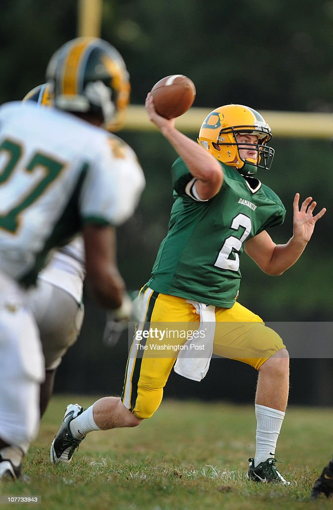 Damascus quarterback Connor Frazier during the game at Damascus High School on Friday September 24 2010 Damascus defeted Seneca Valley 2216 and...