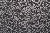 Damask, black pattern texture background