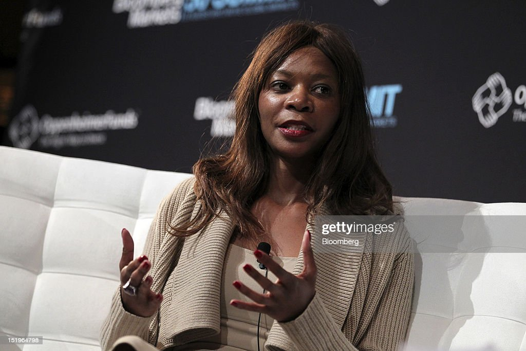Dambisa Moyo, international economist and author, speaks at the Bloomberg Markets 50 Summit in New York, U.S., on Thursday, Sept. 13, 2012. The conference brings together the world's most influential leaders in finance, business and government to discuss the global economy. Photographer: Jin Lee/Bloomberg via Getty Images