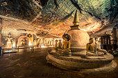 Dambulla ancient cave temple in Sri Lanka located near Sigiriya rock fortress