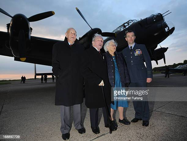 Dambuster veterans Les Munroe George 'Johnny' Johnson Mary StopesRoe the daughter of bouncing bomb inventor Barnes Wallace and Wing Commander David...