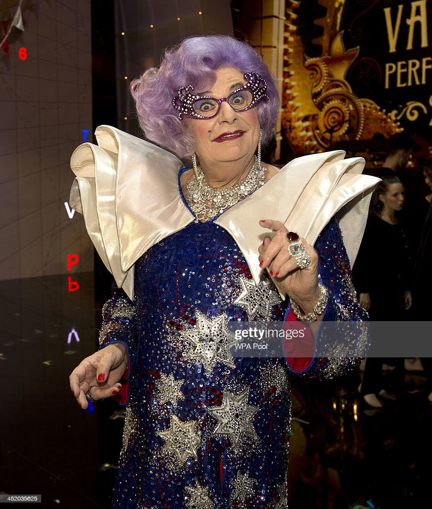 Dame Edna attends the Royal Variety Performance at London Palladium on November 25, 2013 in London, England.