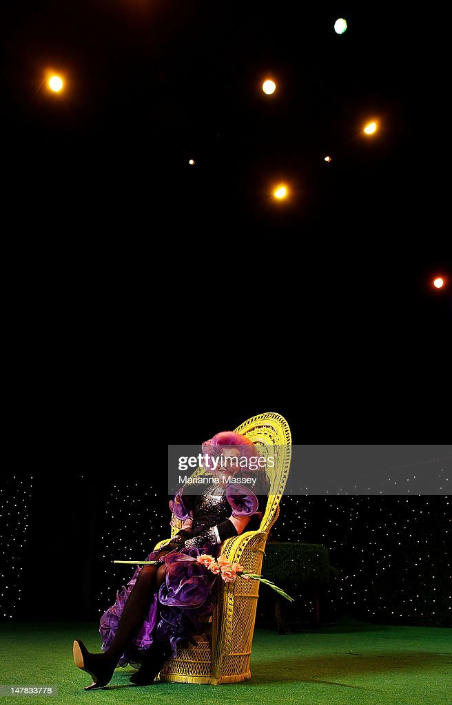 Dame Edna Everage at the 'Eat, Pray, Laugh' media call at Capitol Theatre on July 5, 2012 in Sydney, Australia.
