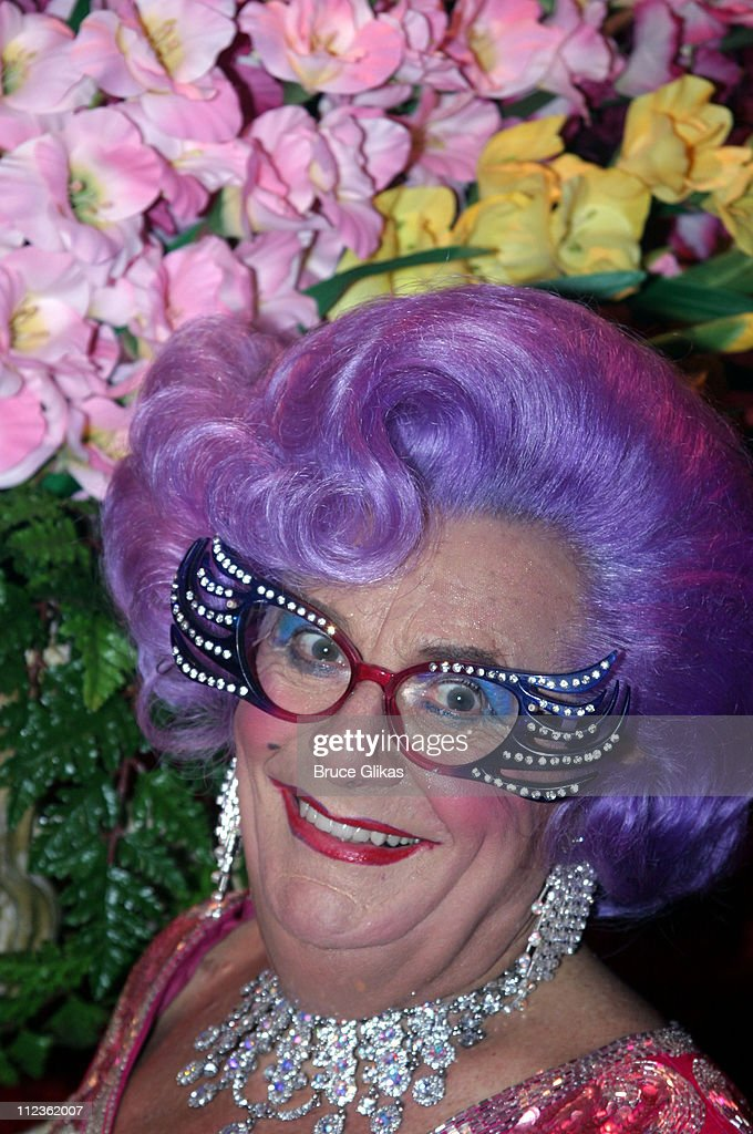 Dame Edna Everage during 'Dame Edna: Back With a Vengeance' Broadway Opening Night at The Music Box Theater then Sardi's in New York, New York, United States.