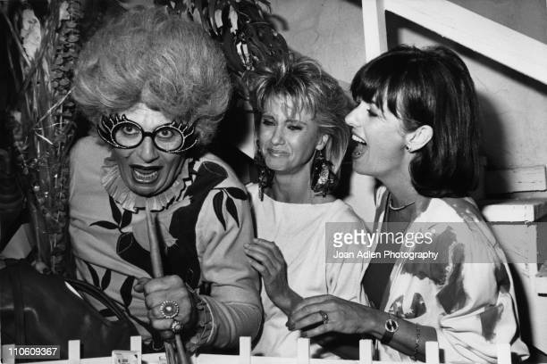 Dame Edna Everage known as the 'Australian Housewife Superstar' and portrayed by Barry Humphries makes a special appearance during an open house...