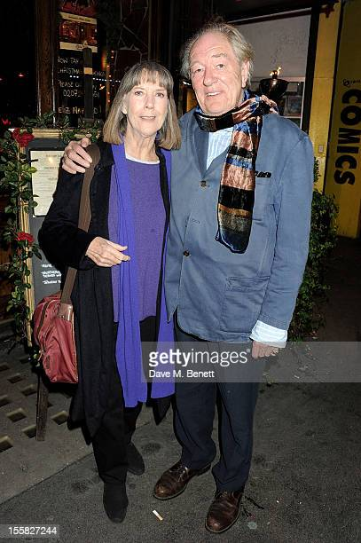 Dame Eileen Atkins and Sir Michael Gambon attend a postperformance drinks for 'All That Fall' at Salvador and Amanda on November 8 2012 in London...