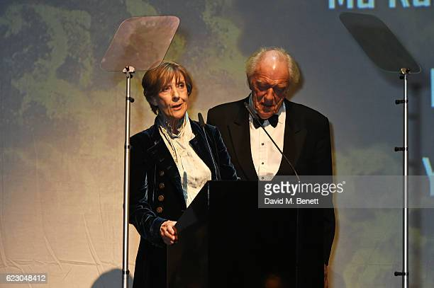 Dame Eileen Atkins and Sir Michael Gambon attend the 62nd London Evening Standard Theatre Awards recognising excellence from across the world of...