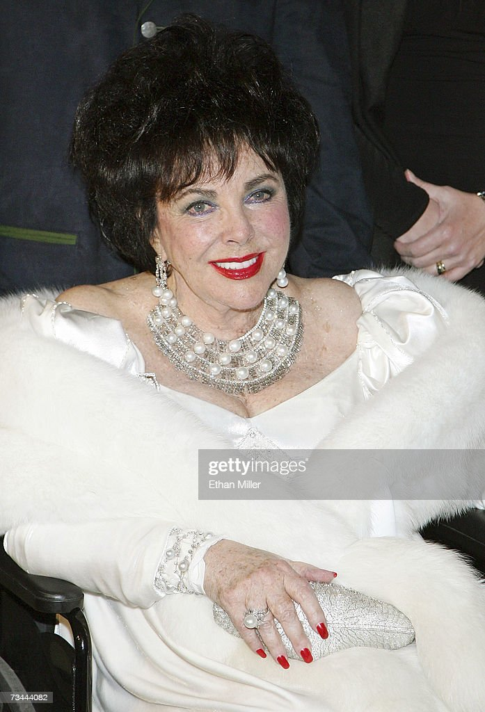 Dame Elizabeth Taylor arrives for her 75th birthday party at the Ritz-Carlton, Lake Las Vegas on February 27, 2007 in Henderson, Nevada.