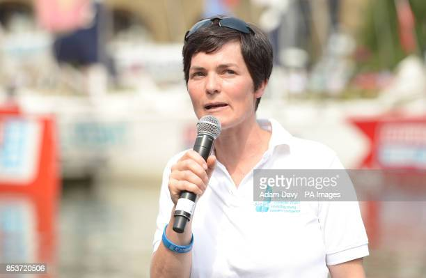 Dame Ellen MacArthur before the finish of the Clipper Round the World Race Finish in London