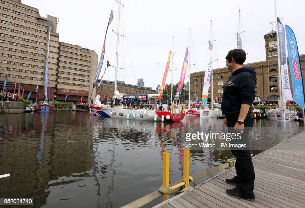 Dame Ellen MacArthur during the start of the Clipper Round the World Race at St Katharine Docks London