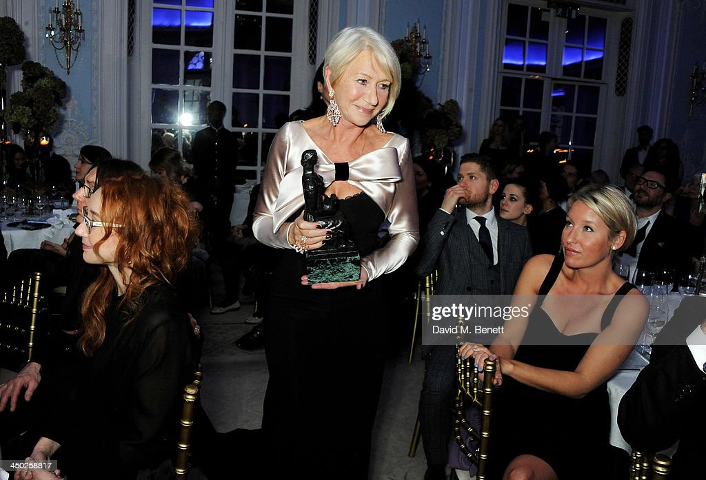Dame <a gi-track='captionPersonalityLinkClicked' href=/galleries/search?phrase=Helen+Mirren&family=editorial&specificpeople=201576 ng-click='$event.stopPropagation()'>Helen Mirren</a> accepts the Natasha Richardson Award for Best Actress at the 59th London Evening Standard Theatre Awards at The Savoy Hotel on November 17, 2013 in London, England.