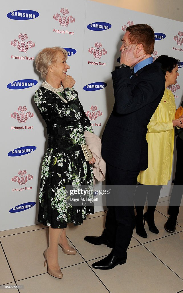 Dame Helen Mirren (L) and Damian Lewis attend The Prince's Trust & Samsung Celebrate Success Awards at Odeon Leicester Square on March 26, 2013 in London, England.