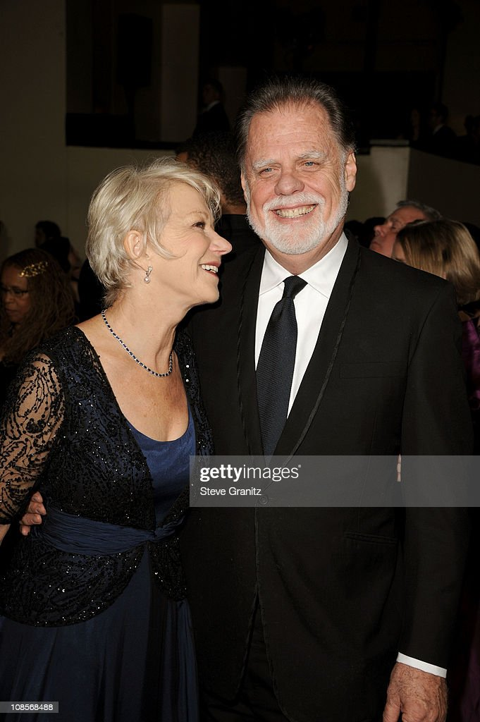 Dame Helen Mirren and DGA President Taylor Hackford arrive at the 63rd Annual DGA Awards held at the Grand Ballroom at Hollywood Highland Center on...