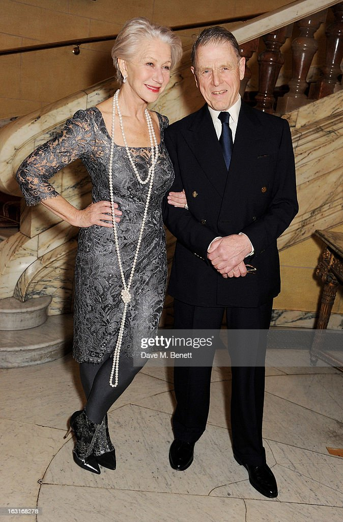 Dame Helen Mirren (L) and Edward Fox attend an after party following the press night performance of 'The Audience' at One Whitehall Place on March 5, 2013 in London, England.