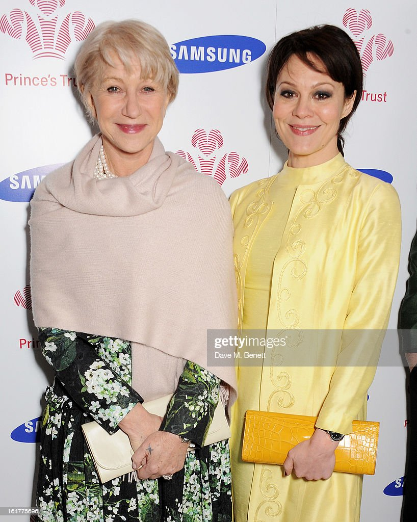 Dame Helen Mirren (L) and Helen McCrory attend The Prince's Trust & Samsung Celebrate Success Awards at Odeon Leicester Square on March 26, 2013 in London, England.