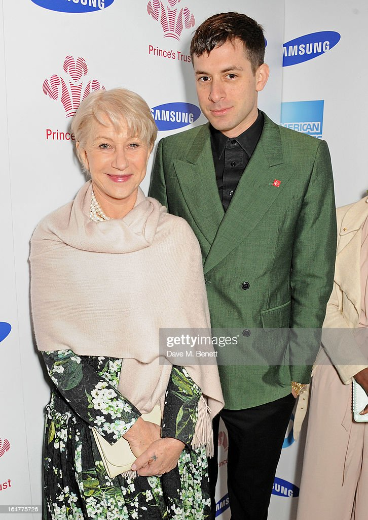 Dame Helen Mirren (L) and Mark Ronson attend The Prince's Trust & Samsung Celebrate Success Awards at Odeon Leicester Square on March 26, 2013 in London, England.