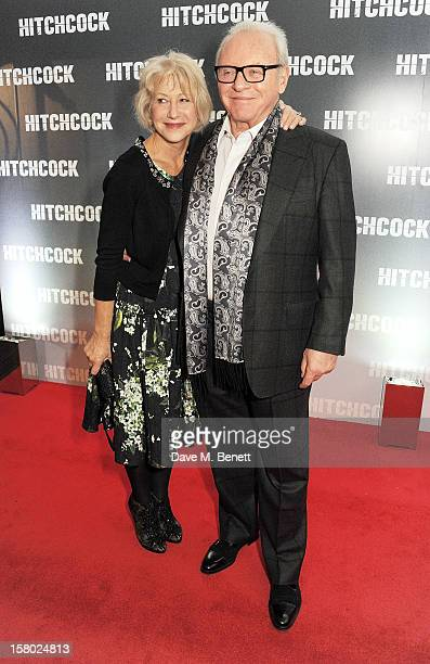 Dame Helen Mirren and Sir Anthony Hopkins attend the UK Premiere of 'Hitchcock' at BFI Southbank on December 9 2012 in London England