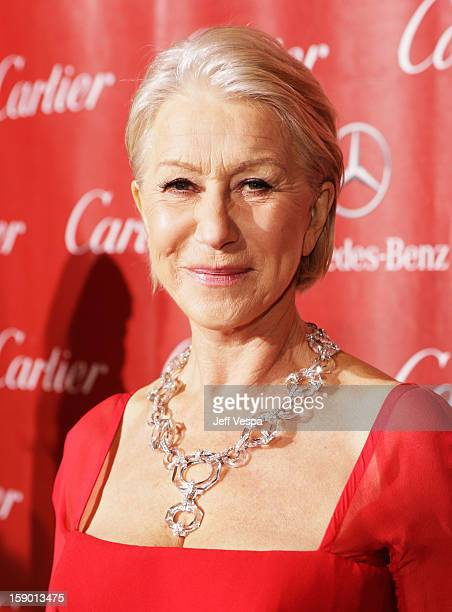 Dame Helen Mirren arrives at the 24th annual Palm Springs International Film Festival Awards Gala at the Palm Springs Convention Center on January 5...