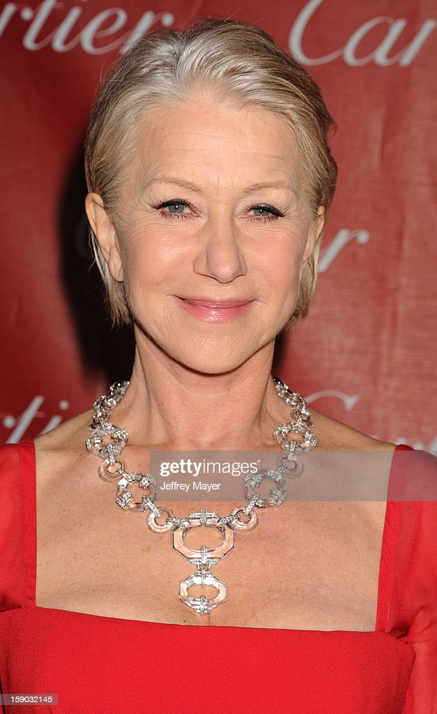 Dame Helen Mirren arrives at the 24th Annual Palm Springs International Film Festival - Awards Gala at Palm Springs Convention Center on January 5, 2013 in Palm Springs, California.