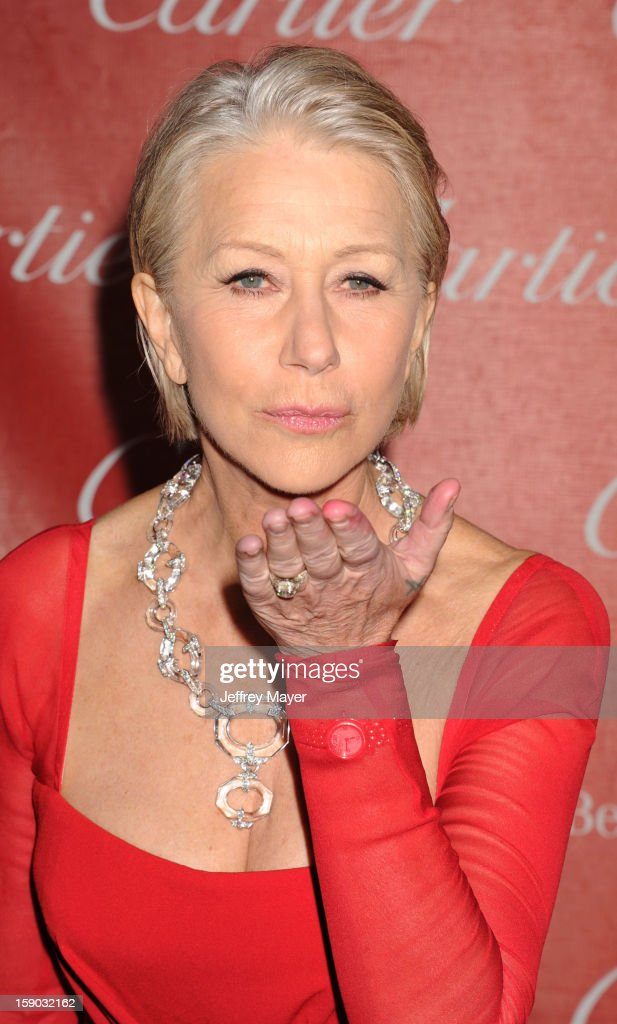 Dame <a gi-track='captionPersonalityLinkClicked' href=/galleries/search?phrase=Helen+Mirren&family=editorial&specificpeople=201576 ng-click='$event.stopPropagation()'>Helen Mirren</a> arrives at the 24th Annual Palm Springs International Film Festival - Awards Gala at Palm Springs Convention Center on January 5, 2013 in Palm Springs, California.