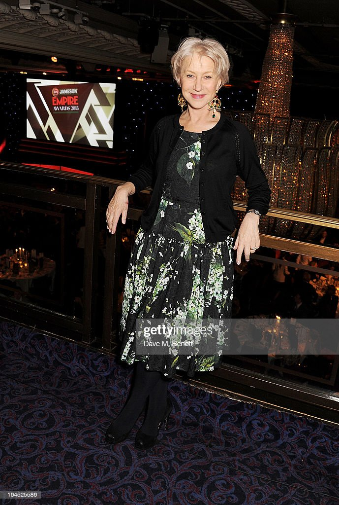 Dame Helen Mirren arrives at the Jameson Empire Awards 2013 at The Grosvenor House Hotel on March 24, 2013 in London, England.