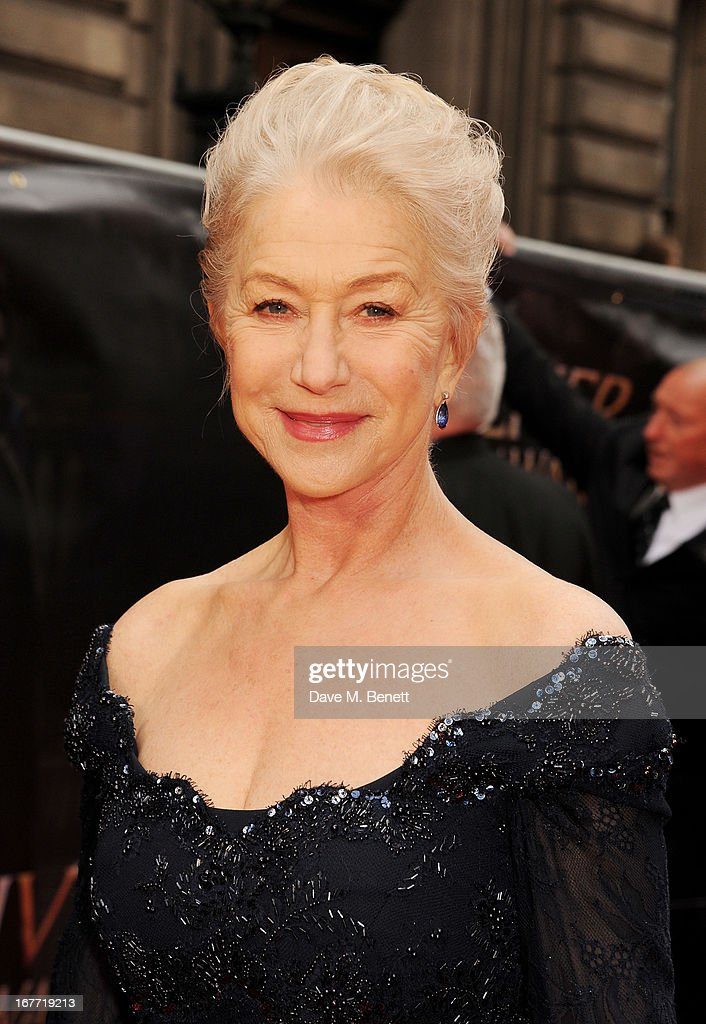 Dame <a gi-track='captionPersonalityLinkClicked' href=/galleries/search?phrase=Helen+Mirren&family=editorial&specificpeople=201576 ng-click='$event.stopPropagation()'>Helen Mirren</a> arrives at The Laurence Olivier Awards 2013 at The Royal Opera House on April 28, 2013 in London, England.