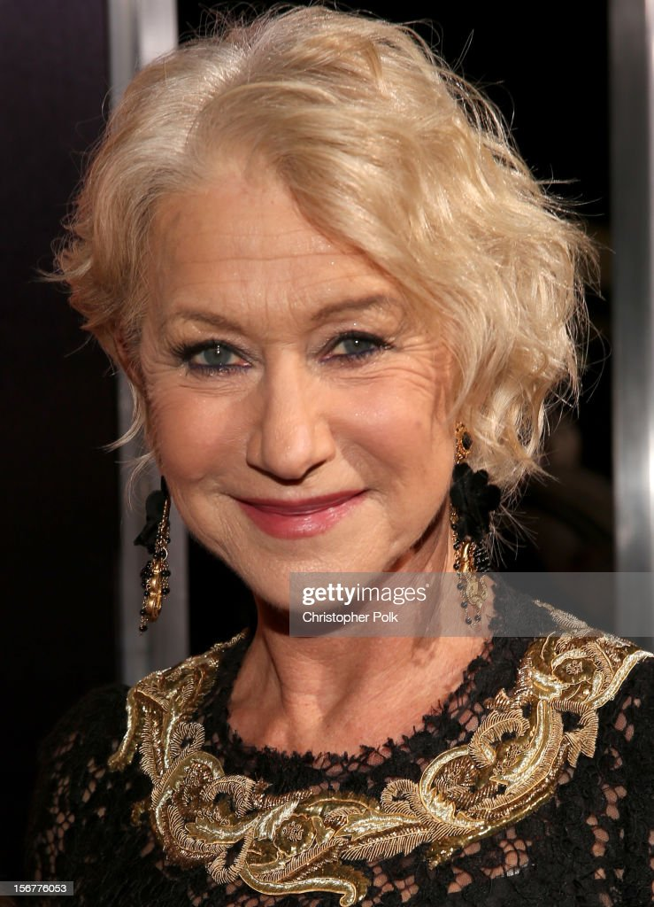 Dame <a gi-track='captionPersonalityLinkClicked' href=/galleries/search?phrase=Helen+Mirren&family=editorial&specificpeople=201576 ng-click='$event.stopPropagation()'>Helen Mirren</a> arrives at the premiere of Fox Searchlight Pictures' 'Hitchcock' at the Academy of Motion Picture Arts and Sciences Samuel Goldwyn Theater on November 20, 2012 in Beverly Hills, California.