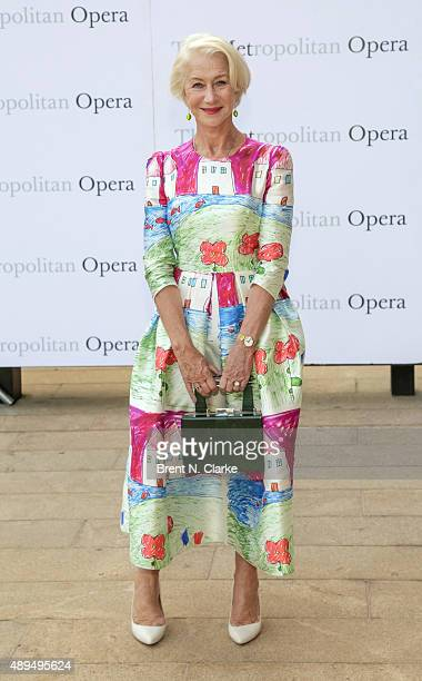 Dame Helen Mirren arrives for the Metropolitan Opera's 20152016 season opening night performance of 'Otello' held at The Metropolitan Opera House on...
