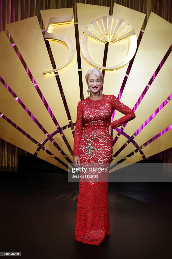 Dame <a gi-track='captionPersonalityLinkClicked' href=/galleries/search?phrase=Helen+Mirren&family=editorial&specificpeople=201576 ng-click='$event.stopPropagation()'>Helen Mirren</a> attends Mandarin Oriental Hong Kong's 50th Anniversary Gala on October 17, 2013 in Hong Kong.