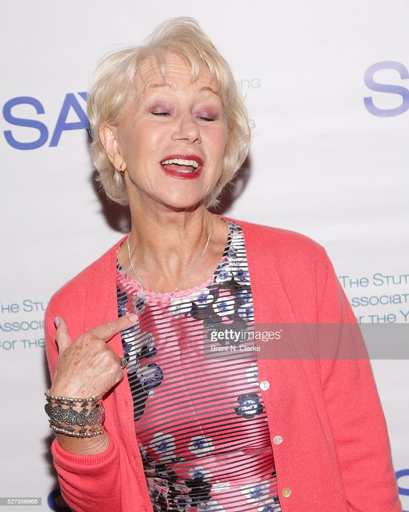 Dame Helen Mirren attends the 14th Annual Stuttering Association for the Young Benefit Gala held at the Jack H. Skirball Center for the Performing Arts on May 2, 2016 in New York City.