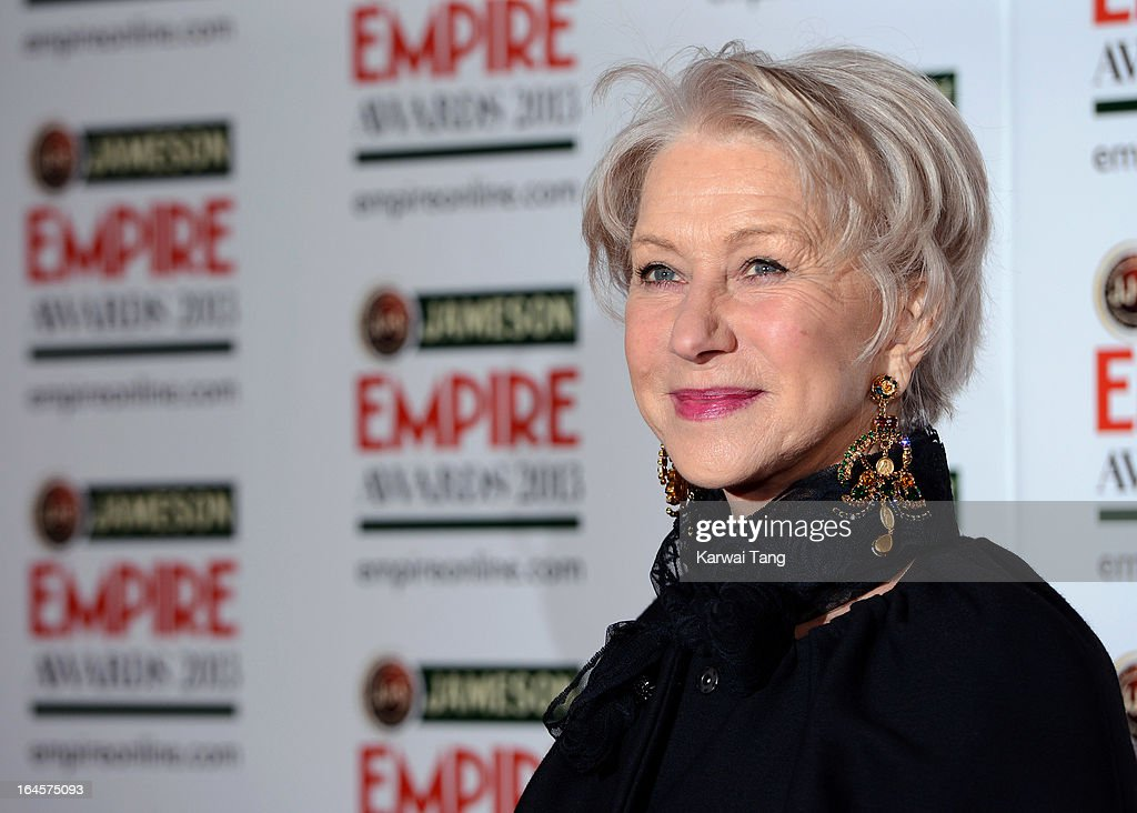 Dame <a gi-track='captionPersonalityLinkClicked' href=/galleries/search?phrase=Helen+Mirren&family=editorial&specificpeople=201576 ng-click='$event.stopPropagation()'>Helen Mirren</a> attends the 18th Jameson Empire Film Awards at Grosvenor House, on March 24, 2013 in London, England.