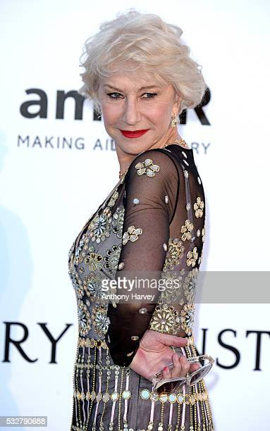 Dame Helen Mirren attends the amfAR's 23rd Cinema Against AIDS Gala at Hotel du CapEdenRoc on May 19 2016 in Cap d'Antibes France